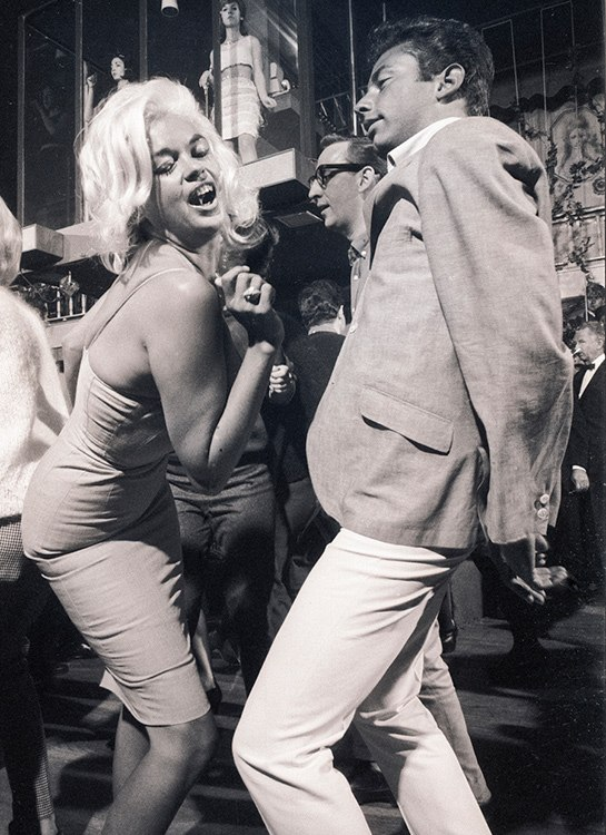 Jayne dancing at Whiskey a Go Go in 1964 by Julian Wasser / Life Magazine